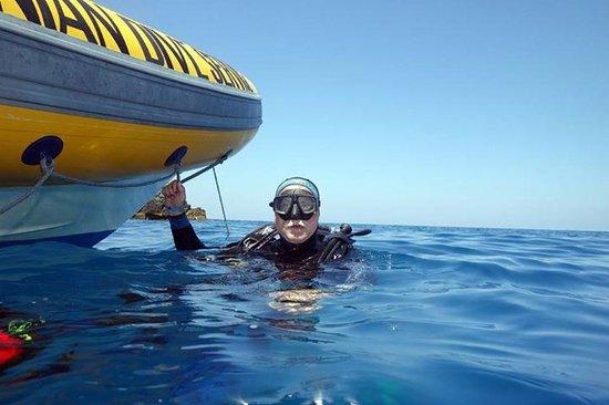 Tirrenian Diving Center: Comodi gommoni!!!