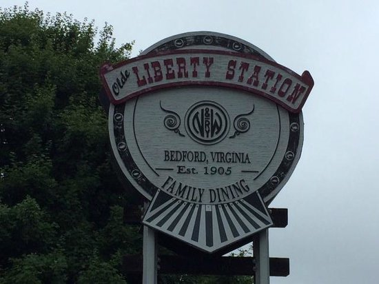 Olde Liberty Station: Look for this sign to find the restaurant; you can't miss it
