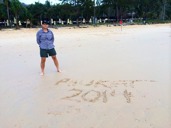 Katathani Phuket Beach Resort: Messages in the sand