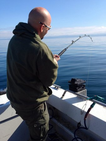Moore Charters: Pulling up a halibut