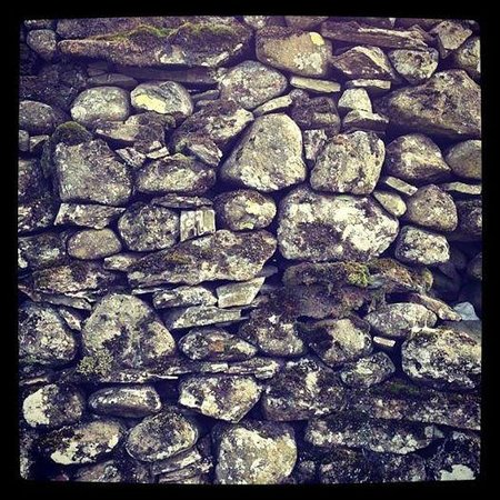 Easedale Tarn: Dry stone wall, a remnant of Britain's Viking heritage