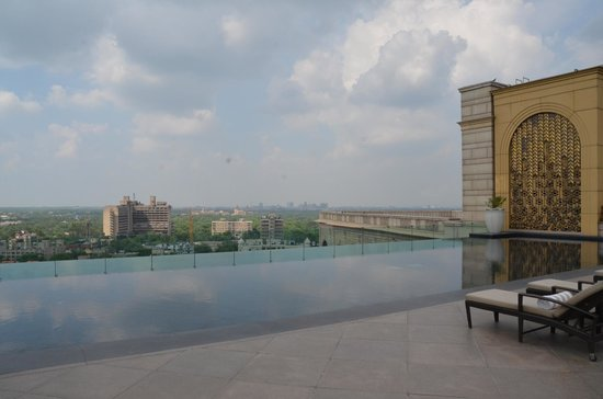 The Leela Palace New Delhi: the pool with a view