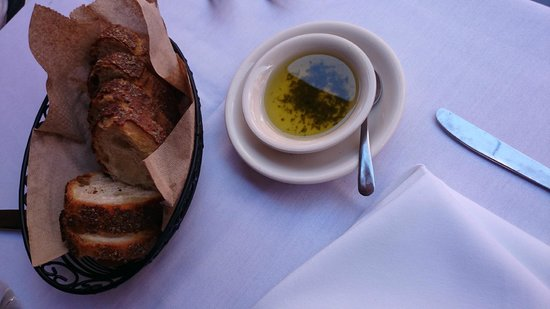 Sofia's of Little Italy: its not extra virign olive oil, but oi, with herbs