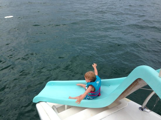 Tropical Sailing: Slide fun time!!