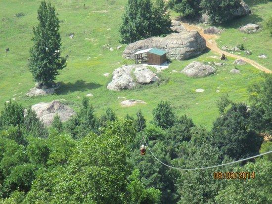 Horseshoe Canyon Ranch: Zipline