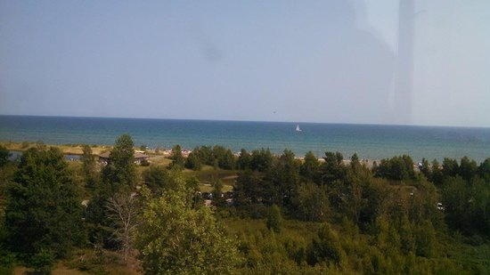 Tawas Point Lighthouse: View of Tawas Bay
