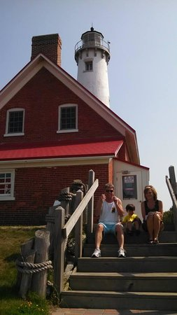 Tawas Point Lighthouse: Jack with Grandma Sue and Grandpa Skeet
