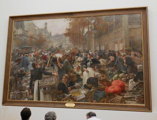Petit Palais, Musée des Beaux-Arts de la Ville de Paris : Les Halles, a monumental painting by Leon Lhermitte