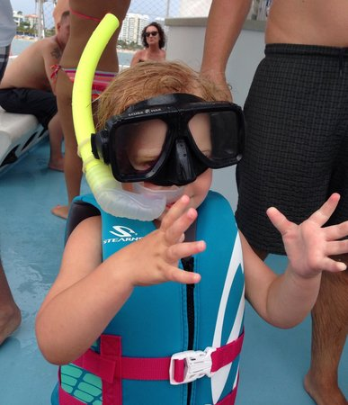 Tropical Sailing: A little snorkeler
