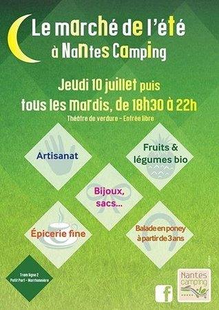 Nantes Camping : Le marché estival du camping
