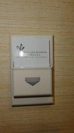 Orchard Garden Hotel: need to put a card in the keep electricity on