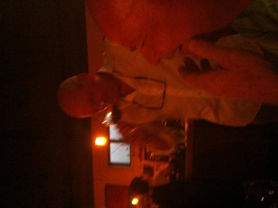 Cafe Brio: Greg Accepting the Blind Taste Challenge