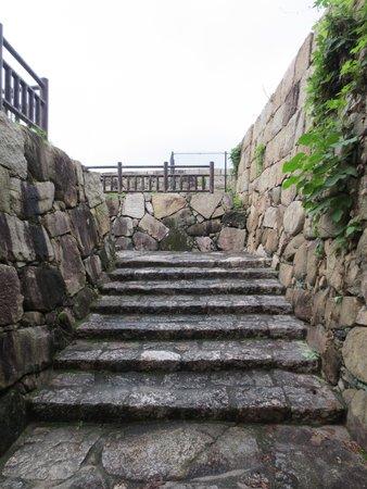 亀居公園, 本丸跡への階段