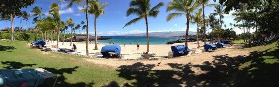Mauna Lani Point: La spiaggia attrezzata