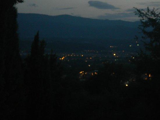 Agriturismo Savernano: View at night so romantic