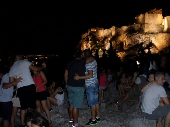 Areopagus: So many people on a rock great night