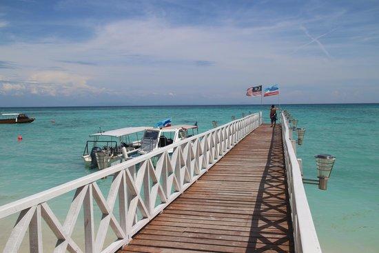 Mantanani Island: our resort's port