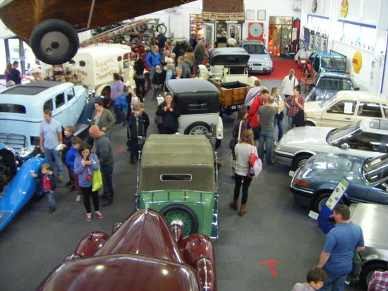 Lakeland Motor Museum: general view from the gallery