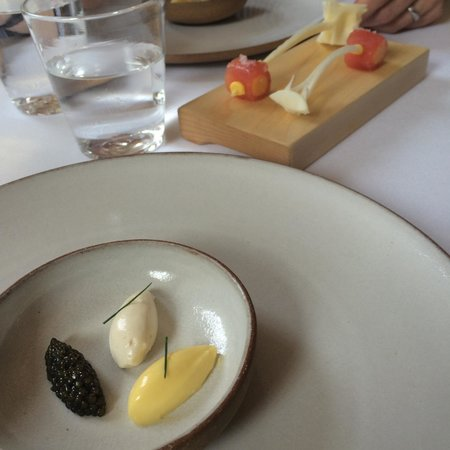 Eleven Madison Park : Corn custard with tuna and caviar