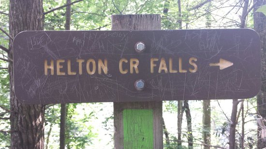 Vogel State Park: Trail sign leading into entrance