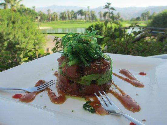 Marriott's Desert Springs Villas I: Delicious appetizer….Tuna!