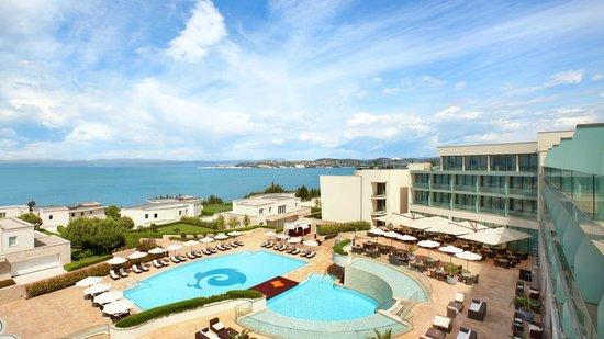 Kempinski Hotel Adriatic Istria Croatia: View to the Kempinski Hotel Adriatic Pool Area at Daytime