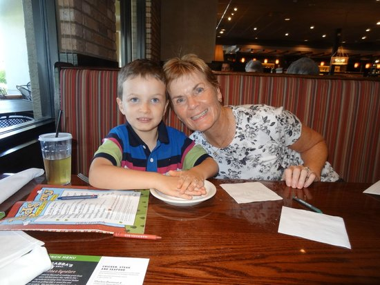 Carrabba's Italian Grill: Charlie liked the real play dough, and apple juice
