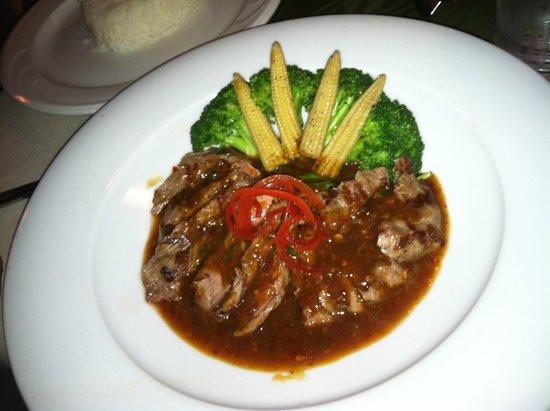 Thai Place: special: thai beef chili jam