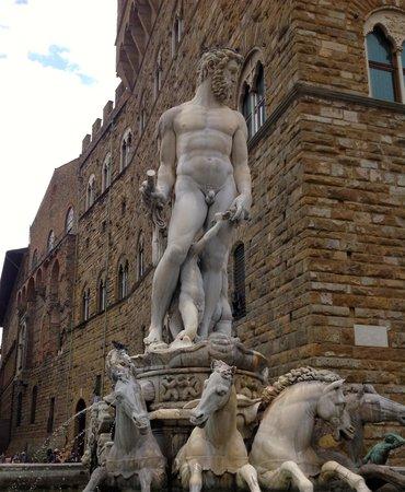 """Piazza della Signoria : """"Fountain of Neptune"""" 1"""