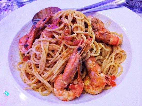 Kounelas Fish Tavern: Shrimp Spaghetti