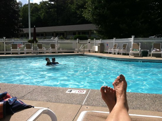 The Milestone: Relaxing at the pool.
