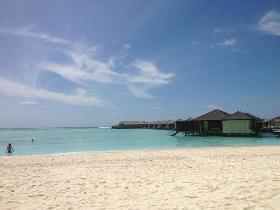Paradise Island Resort & Spa: Water-Villa Aussicht von dem Strand