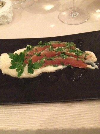 Jour de Pêche  : entrée : saumon gravlax