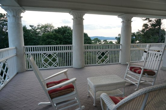 Tarrytown House Estate on the Hudson: View from our private balcony