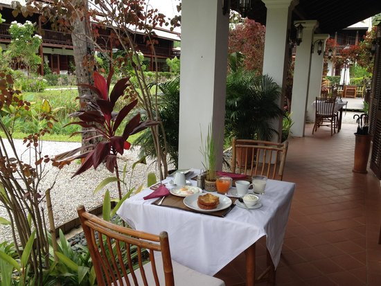 Sanctuary Luang Prabang Hotel : Breakfast at the Sanctuary Hotel