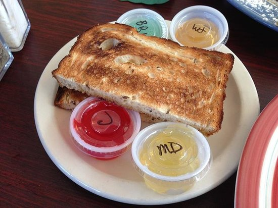 Kiss The Cook Cafe': Toast with crazy (and yummy) homemade jam flavors (Mountain Dew, Blue Raspberry Lemonade, etc.)