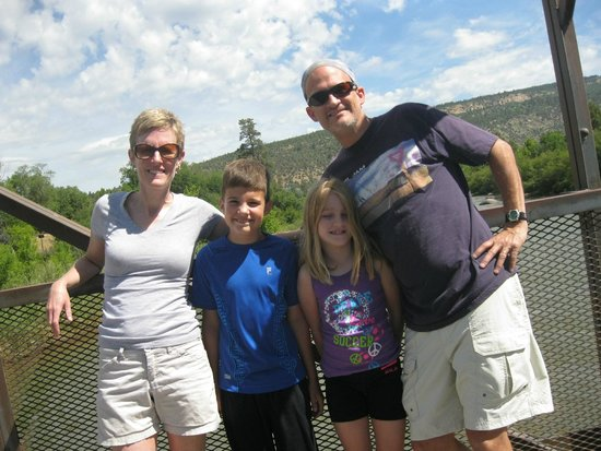 Animas River Trail: On a bridge over the river