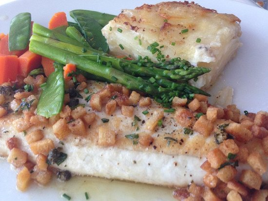 Brian's: Perfectly cooked sea bass.