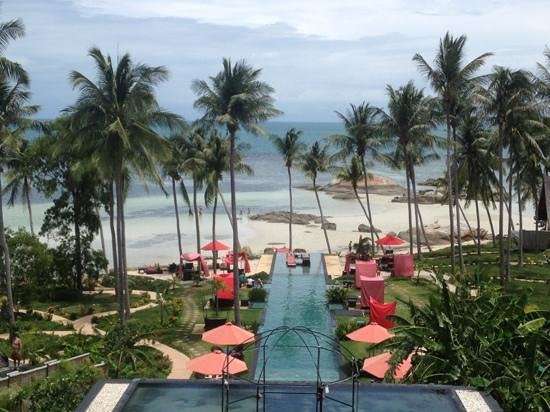 Kupu Kupu Phangan Beach Villas and Spa by l'Occitane: Ausblick von der Recepion