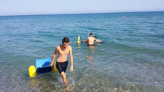 Hotel Rolli : Auch das Baden im Meer ist für Behinderte kein Problem