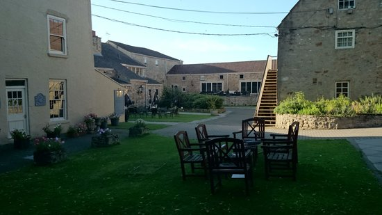 The Manor House Hotel: some garden area leading to the spa