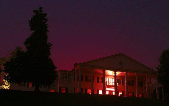 Rosemont Manor at night.