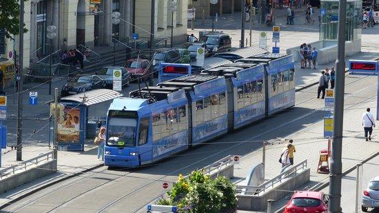 Pension Locarno: The tram passes next to the Locarno