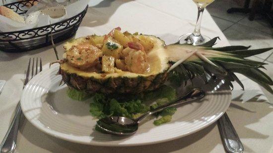 La Mancha: Pineapple Shrimp Tapa