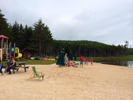 Snowshoe Mountain Resort : Beach at Shavers Lake