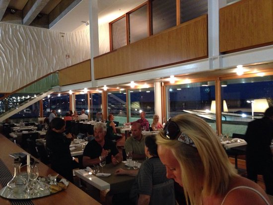 Anfiteatro Restaurant & Lounge: Nightview of the 1st floor of the restaurant