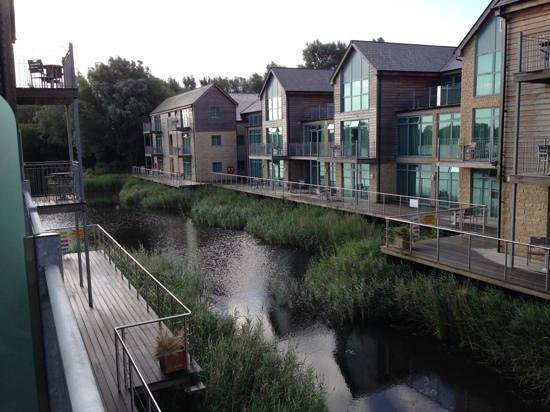 Cotswold Water Park Four Pillars Hotel: view from our balcony