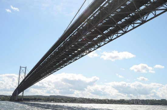 Maid of the Forth: Underside of the Forth road Bridge .