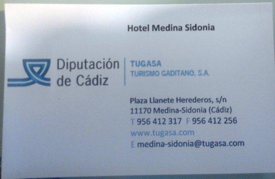 Hotel Medina Sidonia: tarjeta visita