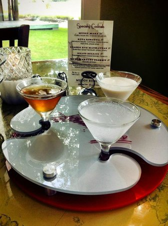Muddy Rudder Restaurant: Martini Flight